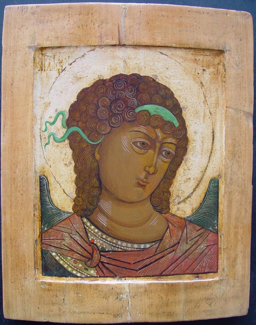 Archangel Michael, Russia, egg tempera on wooden panel.