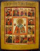 Saint Nicholas Miracleworker with scenes of his life