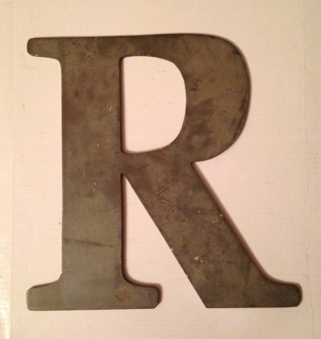 Cast Aluminum Letter 'R'