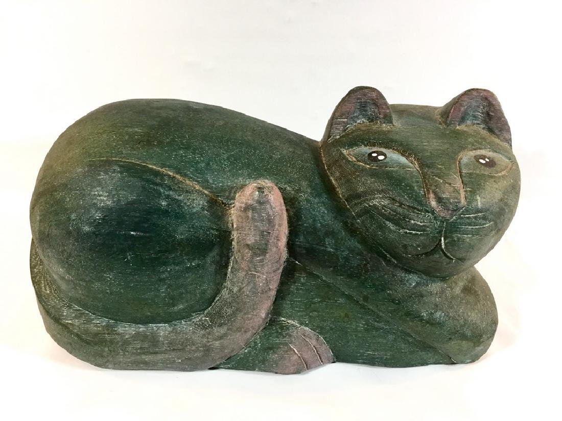 Carved Wood Cat