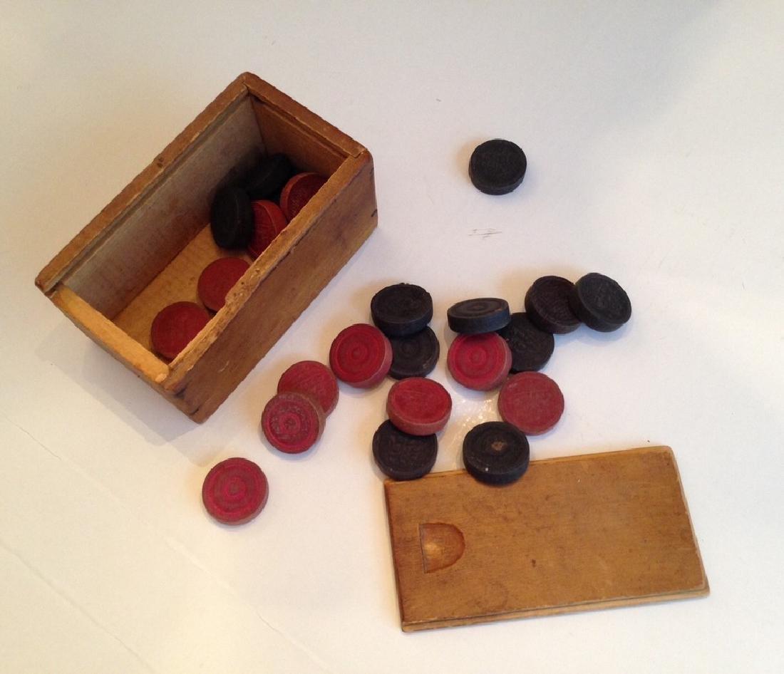 19th century Checkers in Original Box