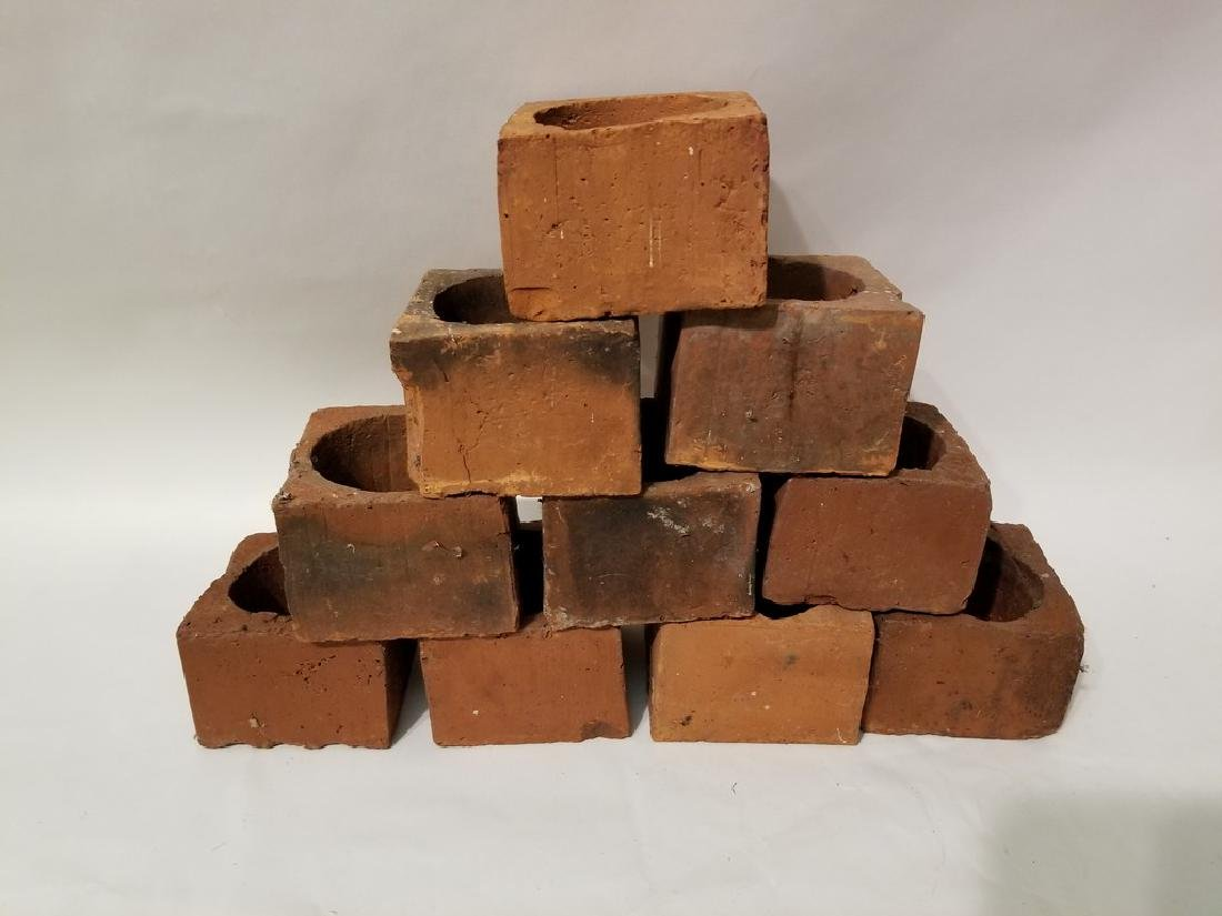 9 Red Clay Bricks
