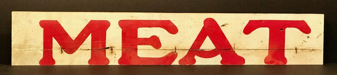 Meat Sign, Early 20th Century