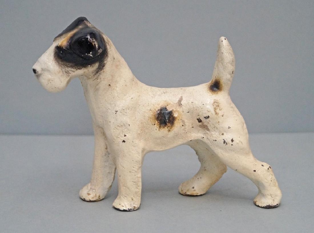 Antique Fox Terrier Dog Cast Iron Doorstop