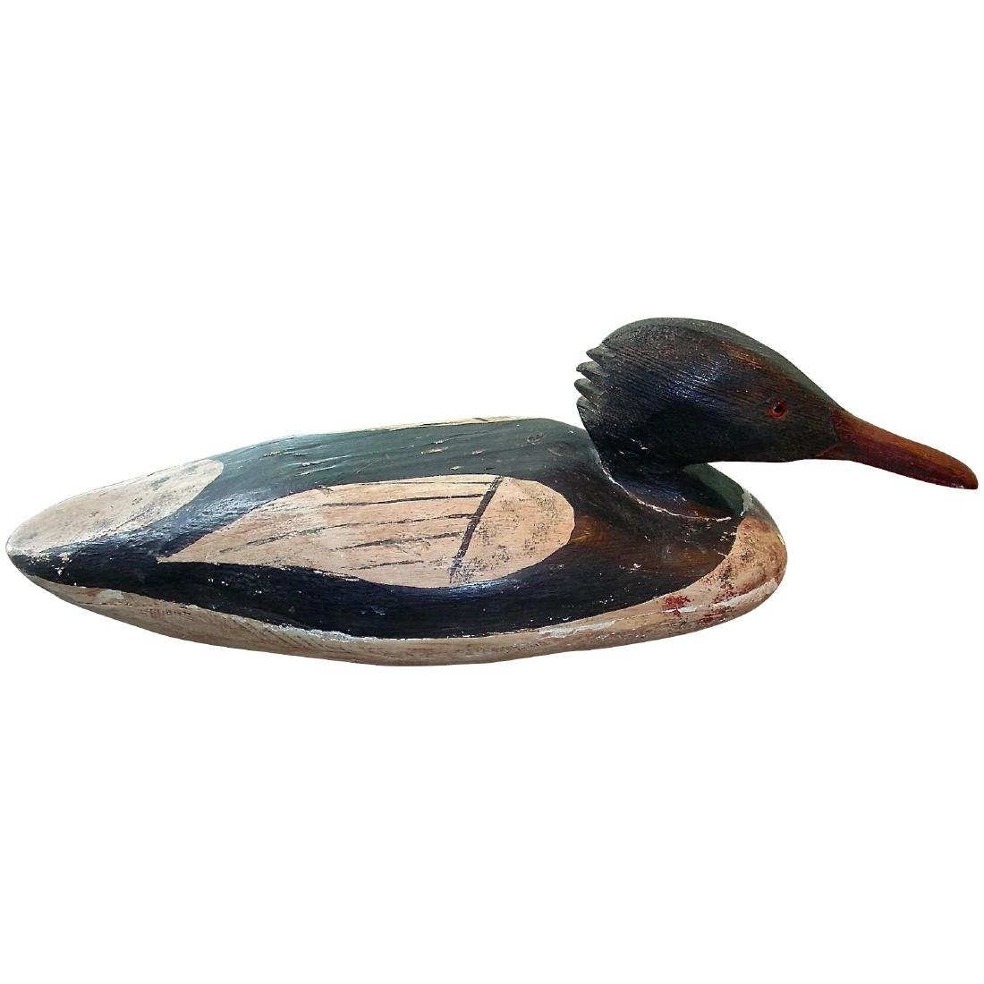Hollow Carved Merganser Decoy