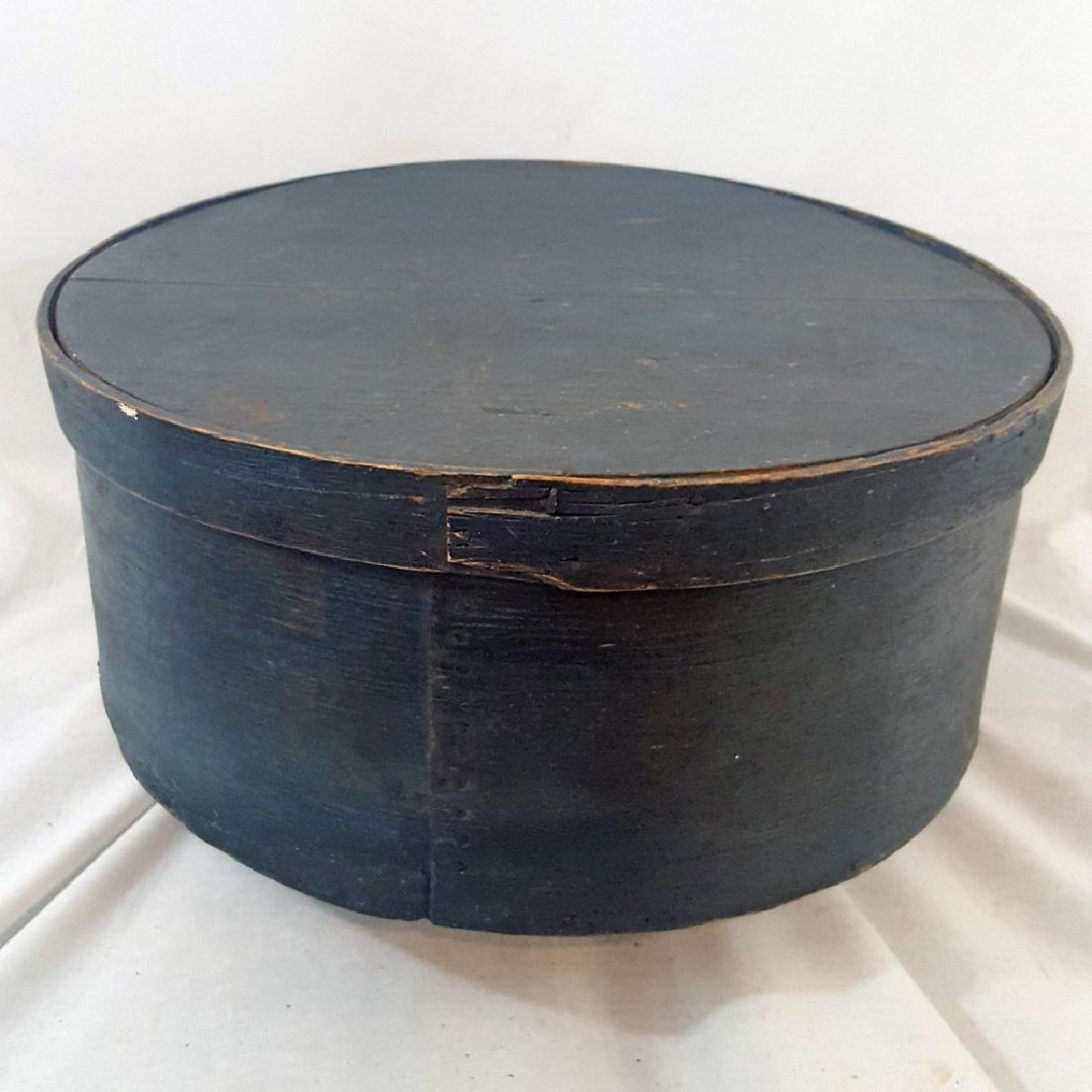 Massive Pantry Box in Original Blue Paint Ca 1850