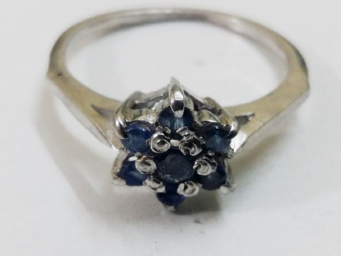925 Silver Ring with Natural Sapphire Gemstones