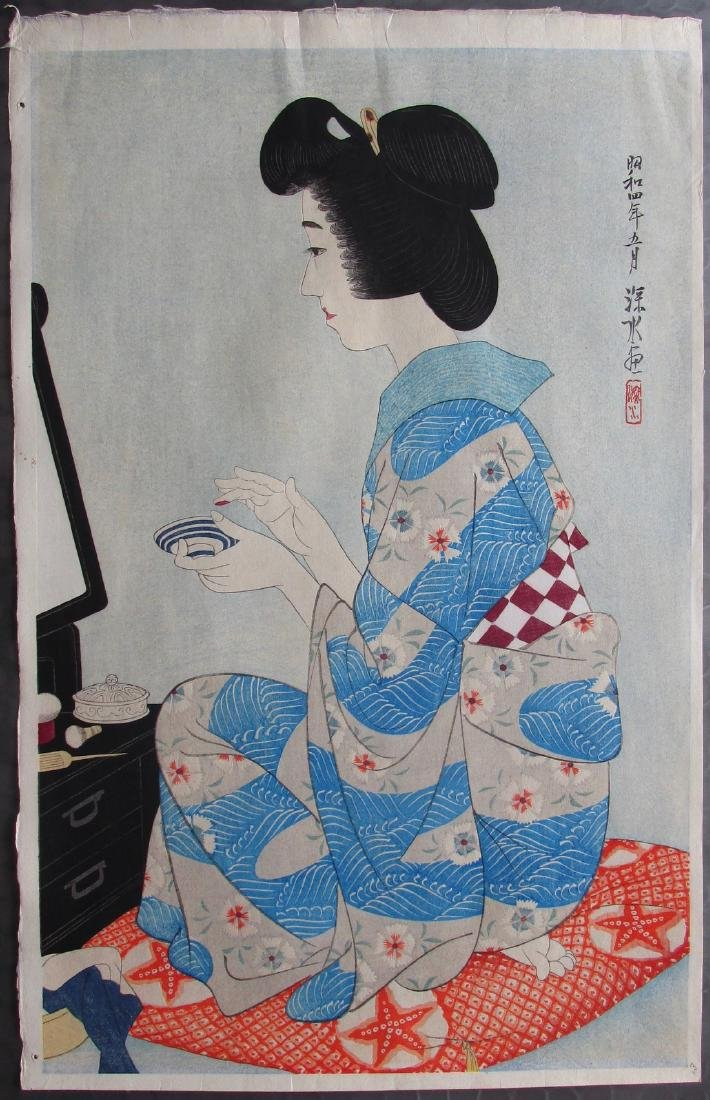 Ito Shinsui First Edition Woodblock Rouge