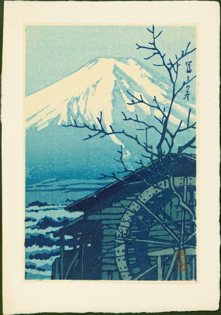 Kawase Hasui Woodblock Mt. Fuji in Winter