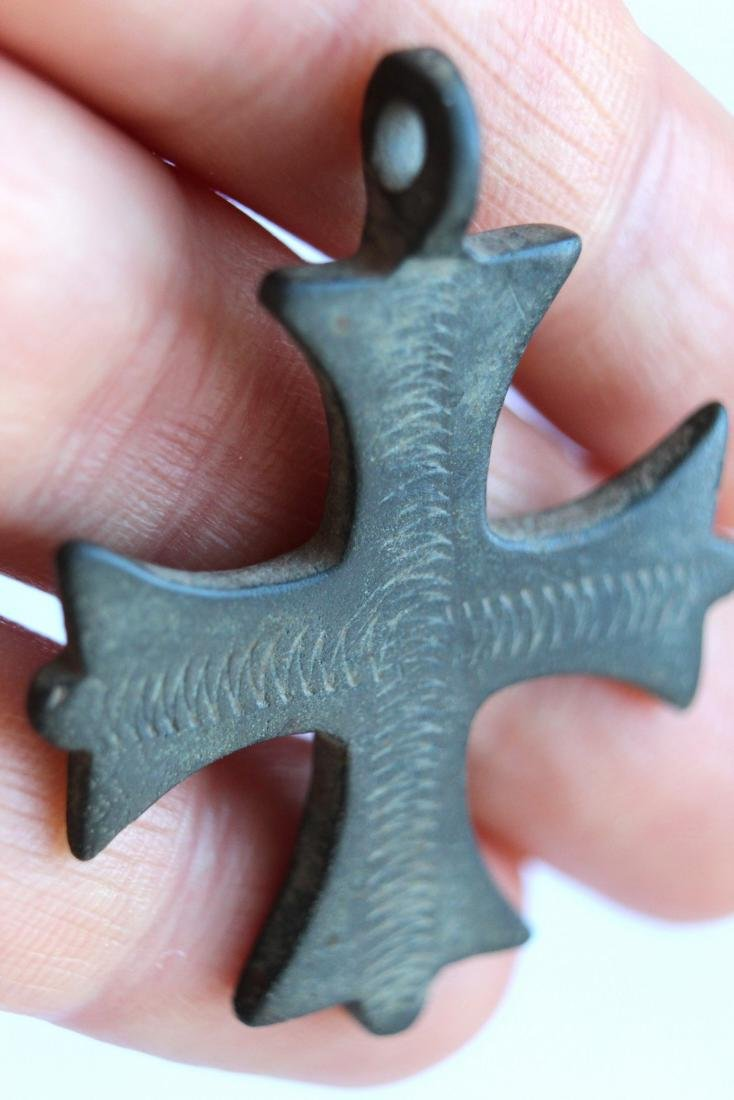 Medieval Maltese Bronze Cross Pendant