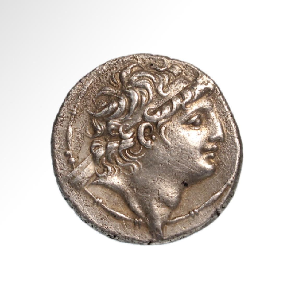 Greek Silver AR Tetradrachm Coin of Antiochos VIII