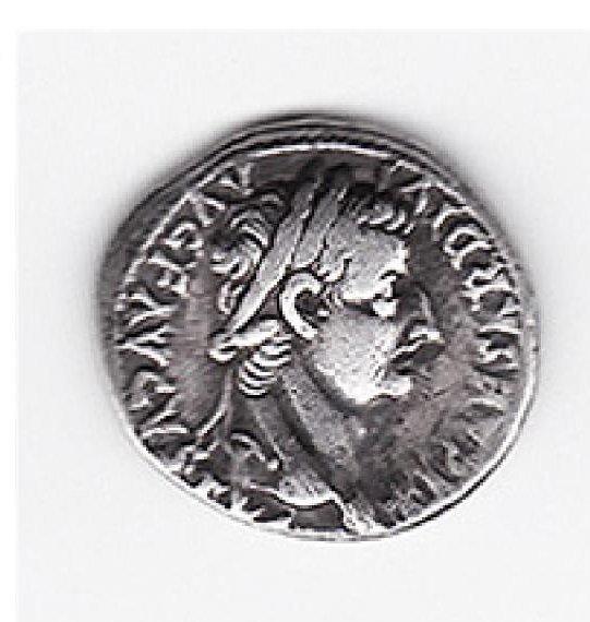 Roman Silver Denarius, Tiberius Biblical Tribute Penny