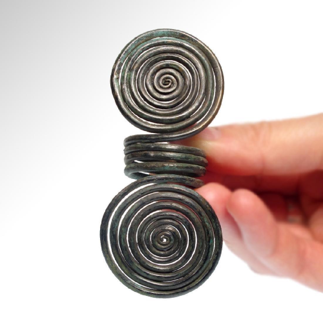 European Bronze Age Spiral Finger Ring, C. 1000-900 BC