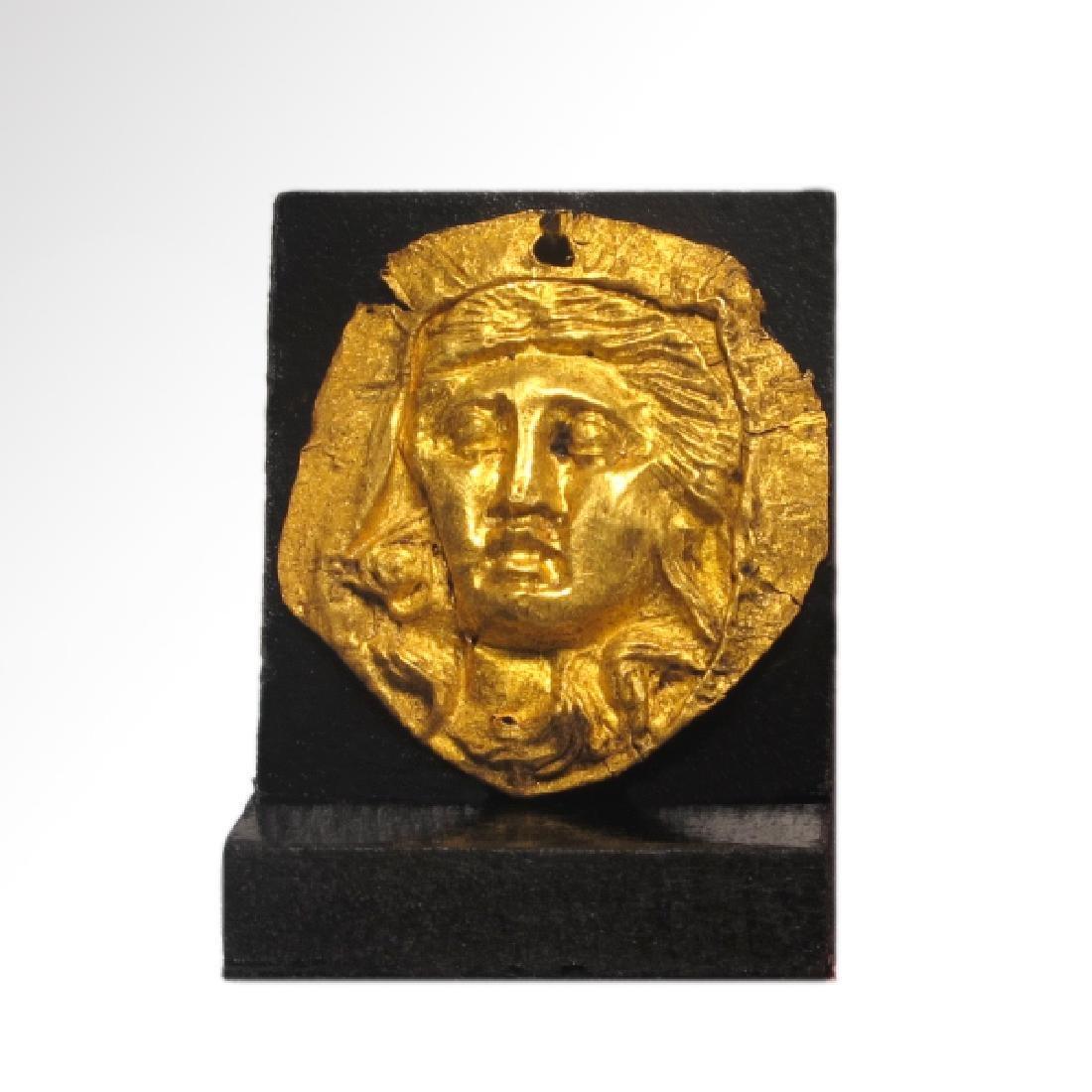 Roman Gold Inlay, Head of a Venus, c. 2nd Century AD