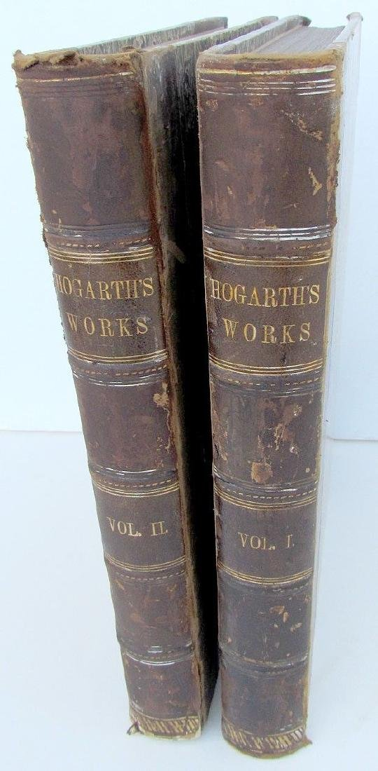 1870s Antique 2 Volumes of Hogarth's Works Illustrated