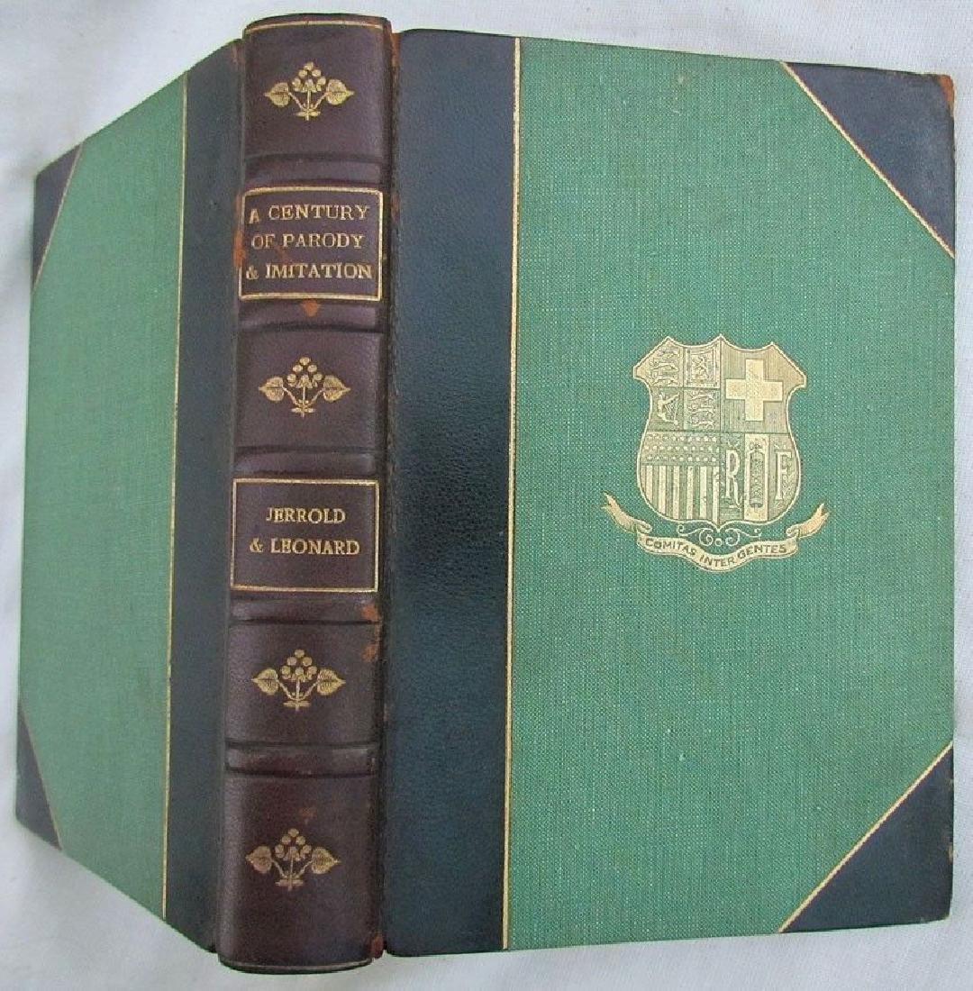 1913 Antique Book a Century of Parody & Imitation