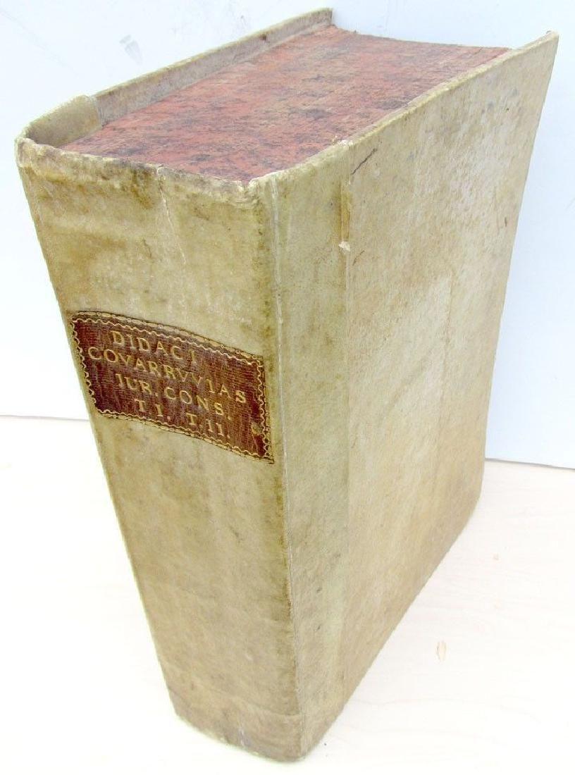 1571 Antique Vellum Bound Folio - Didaci Covarruvias
