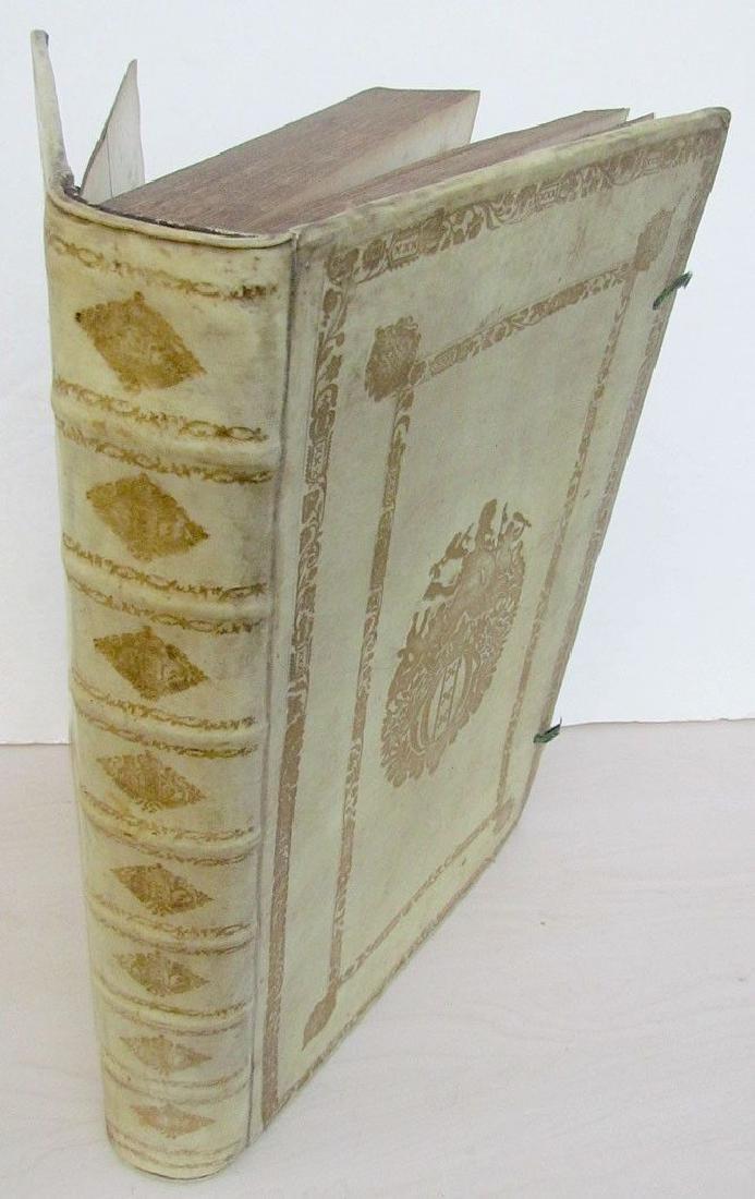 Antique 1749 Vellum Bound Folio by Basilii Fabri