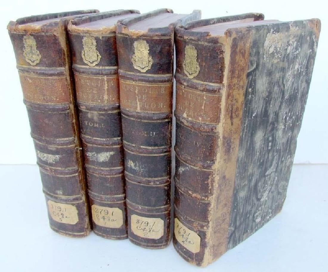 1749 Lot of 4 Antique Volumes Histoire De Ciceron