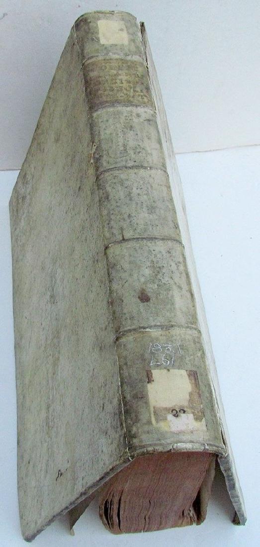 1738 Antique Vellum Bound Folio in Greek & Latin