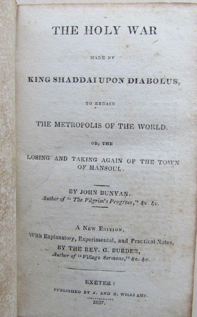 1837 Antique the Holy War Made by King Shaddai Upon