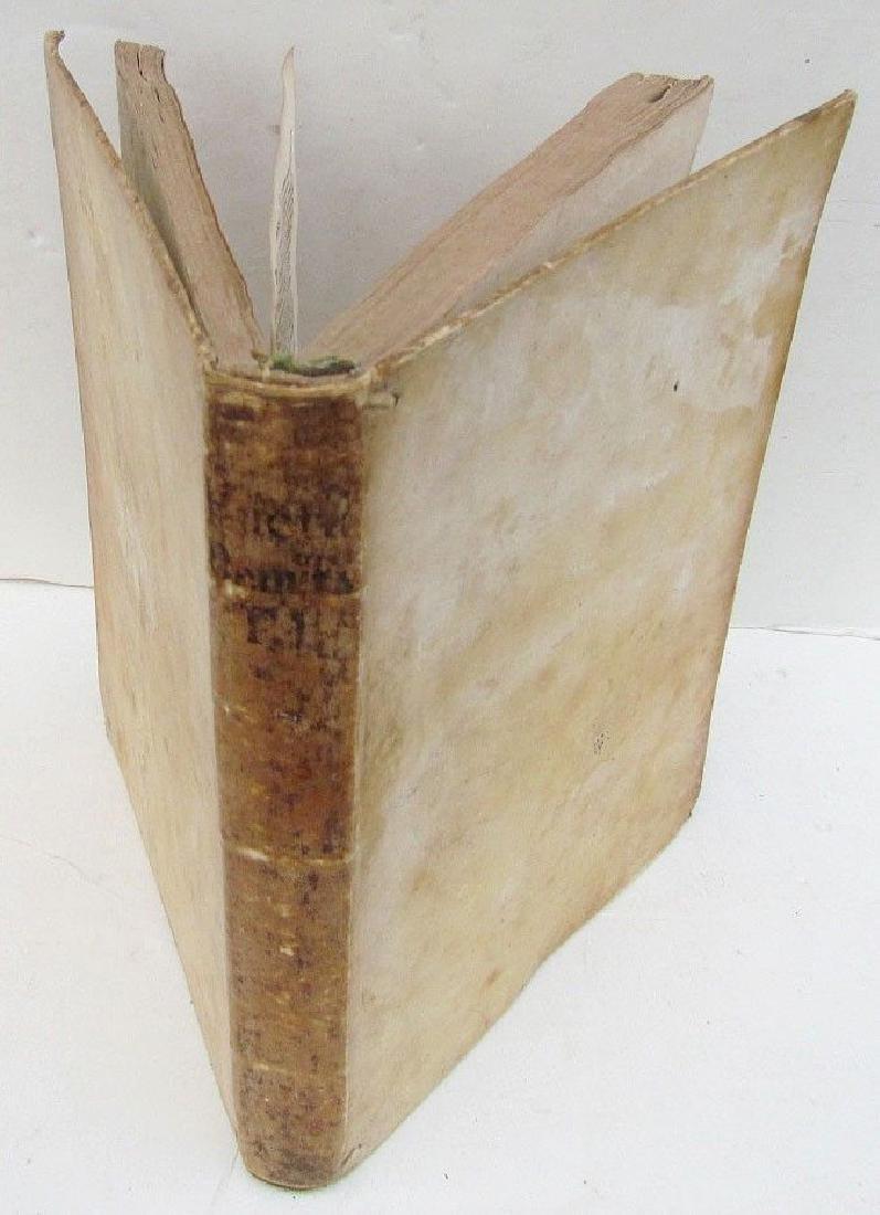 1733 Antique Vellum Bound Book Demonstratio Evangelica