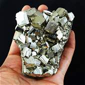 Cubic Pyrite Crystal Cluster - Very Shinny Crystals