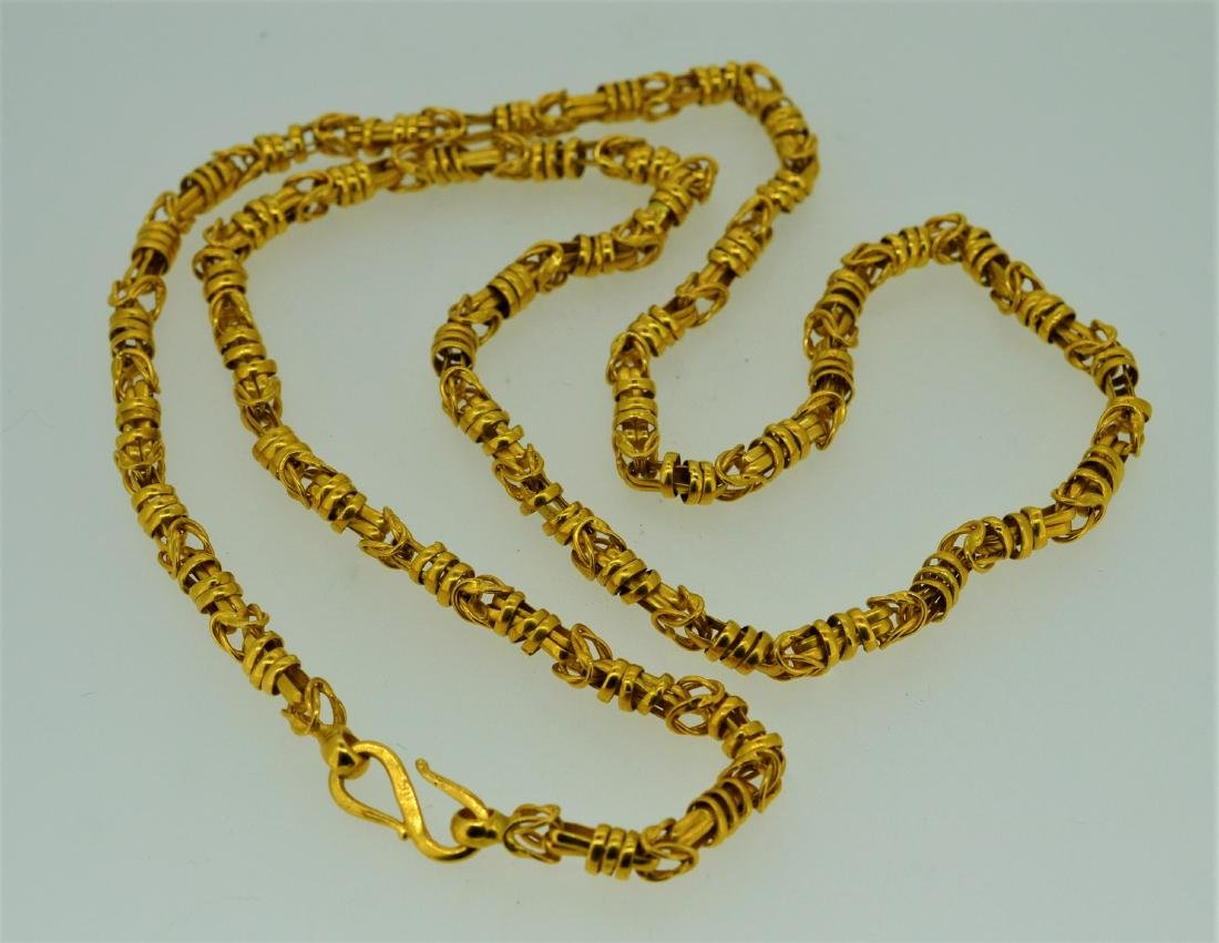 "Impressive 22k Yellow Gold  26"" Chain Necklace"