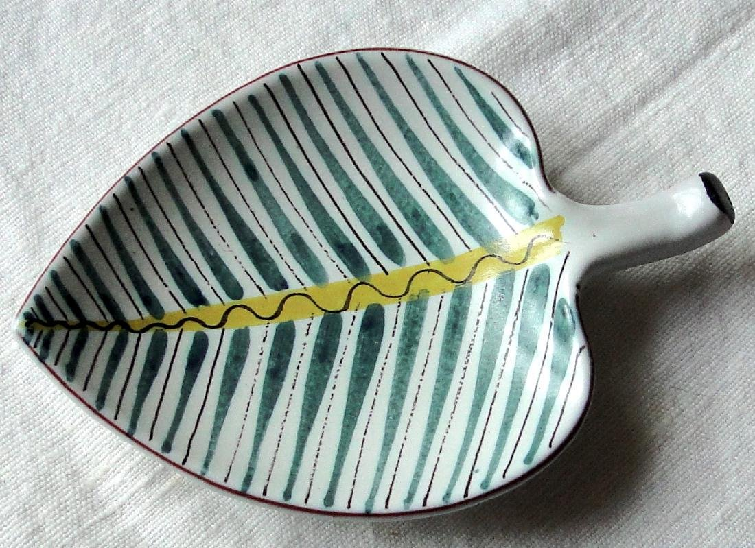 Stig Lindberg Swedish Porcelain Leaf Dish