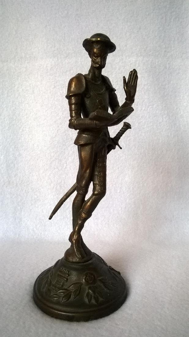 Antique Exhibition sculpture of Don Quixote