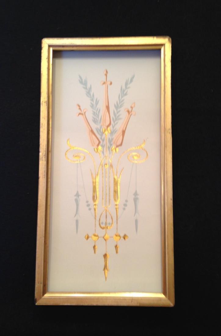 19thc Gilded Wallpaper