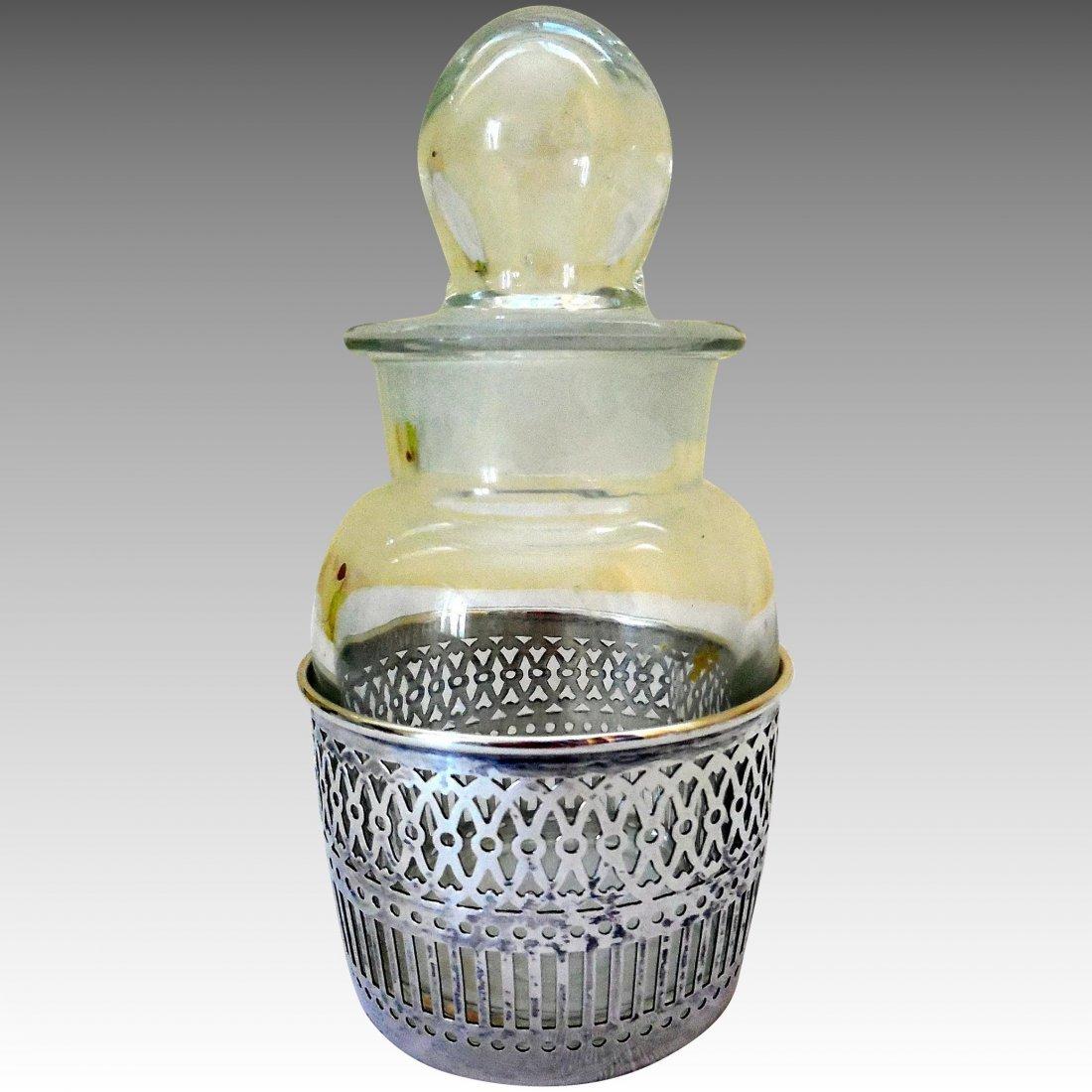 Vanity Jar in Sterling Silver Base