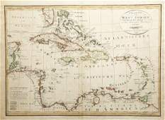 Gussefeld: Antique Map of the West Indies, 1804