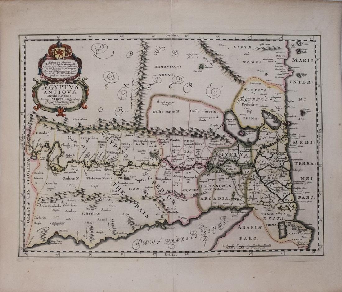 1653 DuVal Map of Upper Egypt -- Aegyptus Antiqua