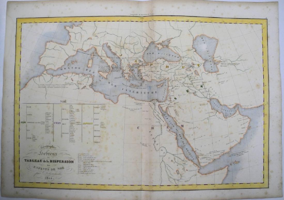Delamarche: Antique Map of the Ancient World, 1836