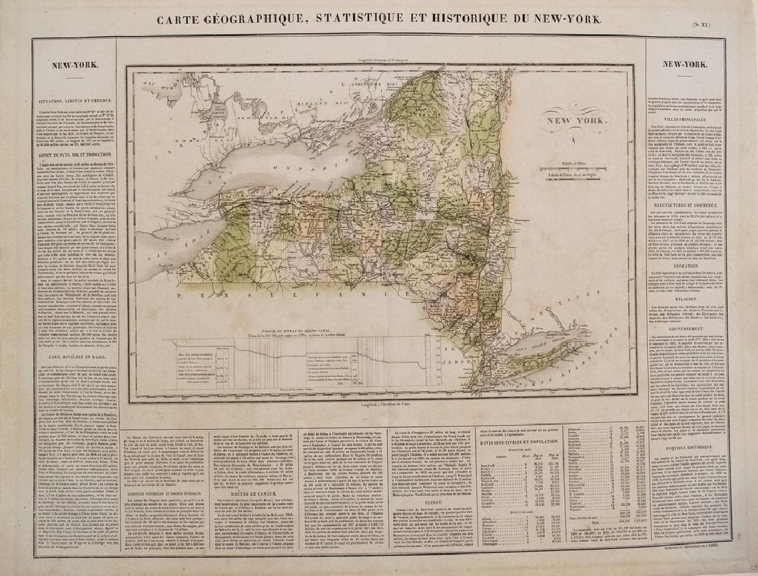 1825 Buchon Map of New York