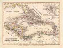 Radefeld: Map of West Indies & Central America, 1861