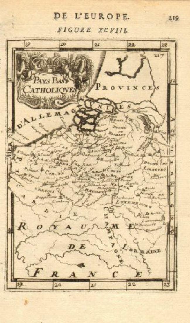 Mallet: Antique Map of BELGIUM. Catholic Netherlands