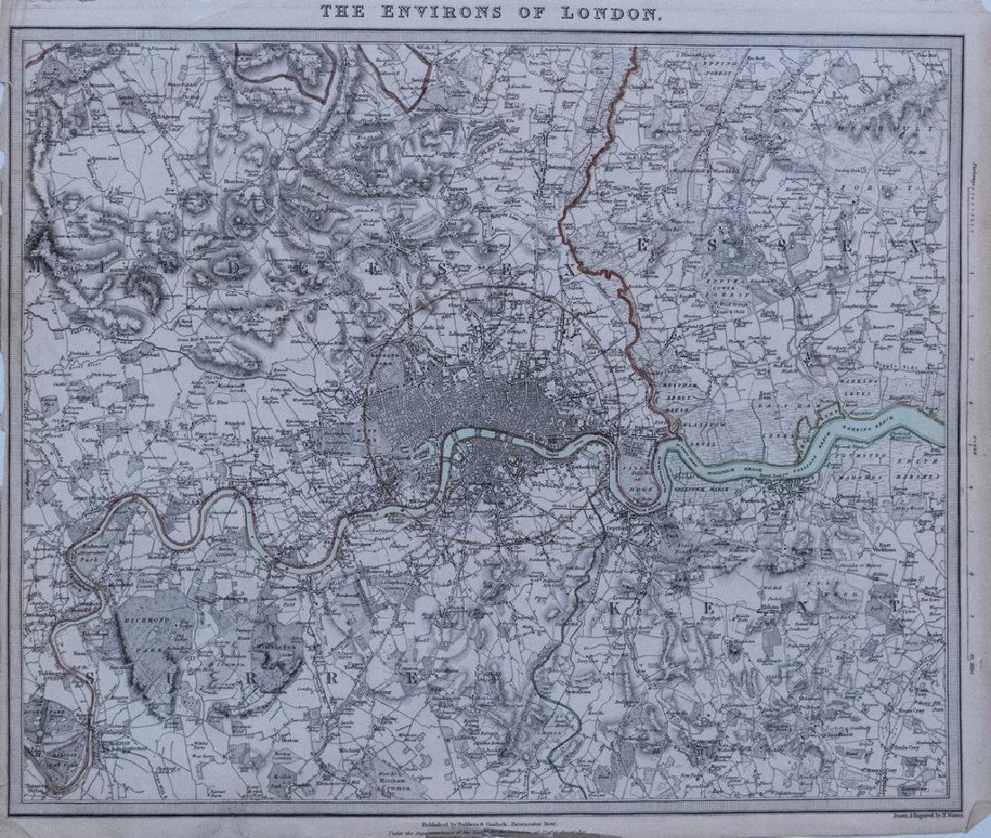 Antique 1832 SDUK Map of Greater London