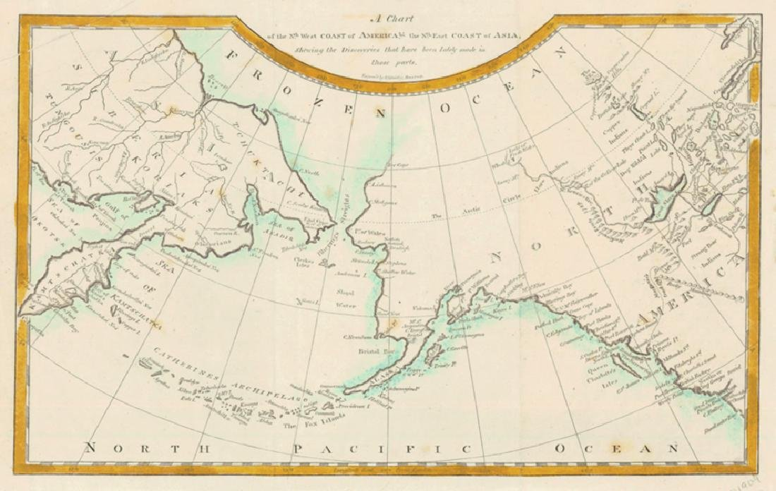 Chart of the NorthWest Passage b/w America & Asia 1804