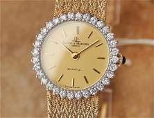 Baume  Mercier Geneve Quartz 14k Gold Diamonds Quartz