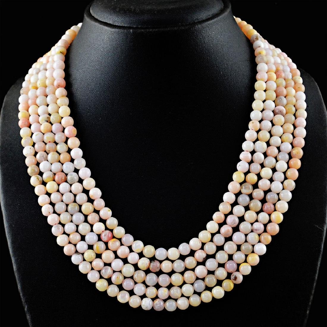 Pink Australian Opal necklace with 18 kt (750/1000)