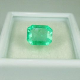 GRS Certified 2.36 Carat Colombian Emerald Top Stone