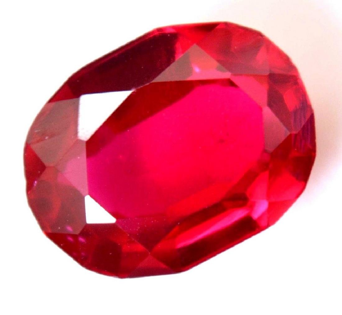 6.80 Carat Loose Natural Red RUBY  AGSL Certified Oval