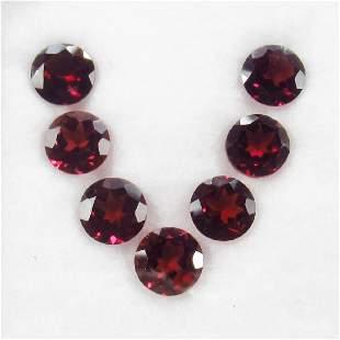 1012 Carat 7 Loose Round Rhodolite Garnet Necklace Set