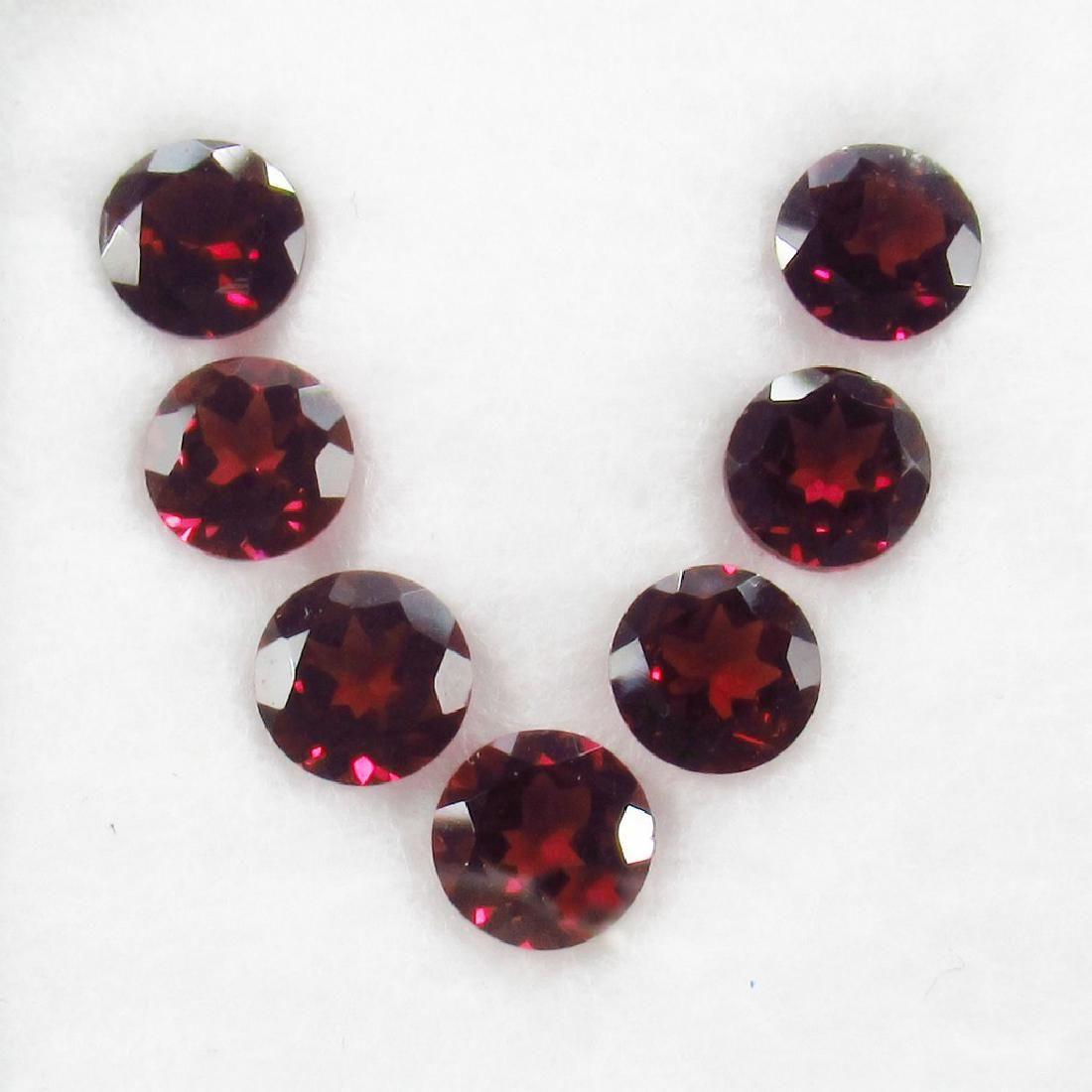 10.12 Carat 7 Loose Round Rhodolite Garnet Necklace Set