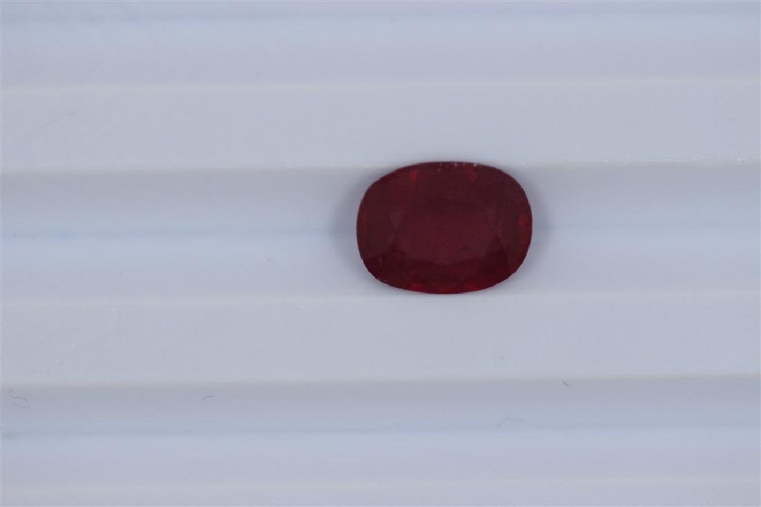 3.2ct  Ruby Oval cut