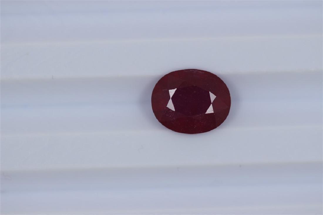 3.93ct Ruby Oval cut