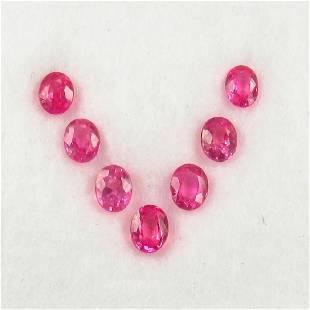 158 Ctw Natural 7 Loose Pink Sapphires Necklace Set