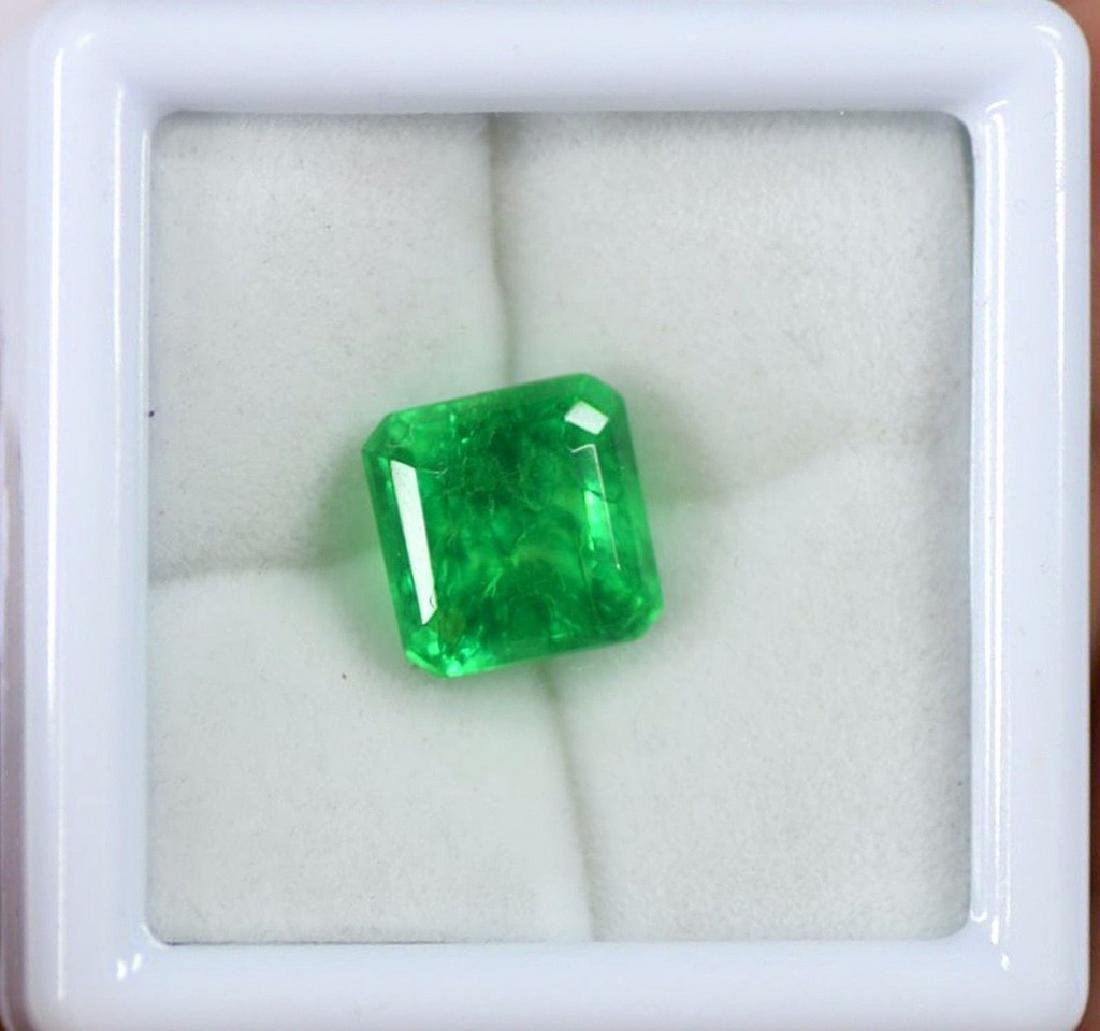 7.15 Carat EGL Certified Natural Green Emerald Gemstone